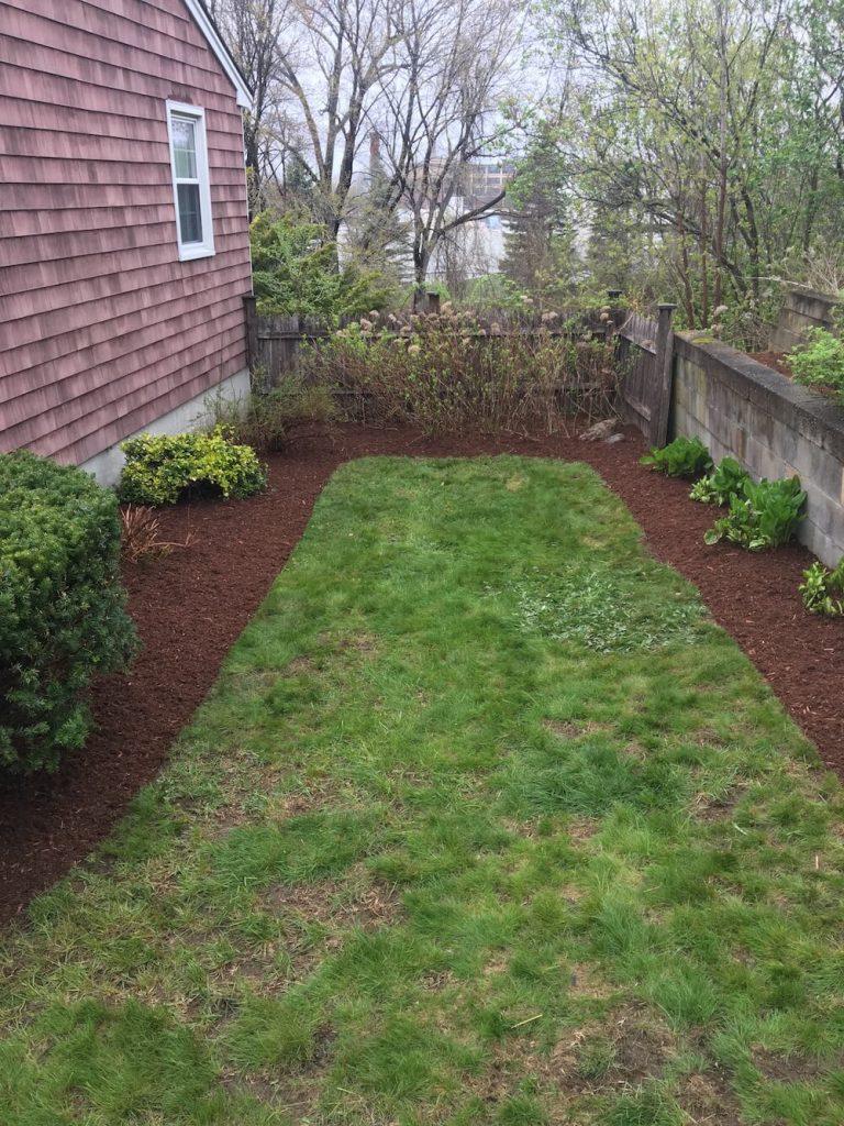 Final mulch, lawn
