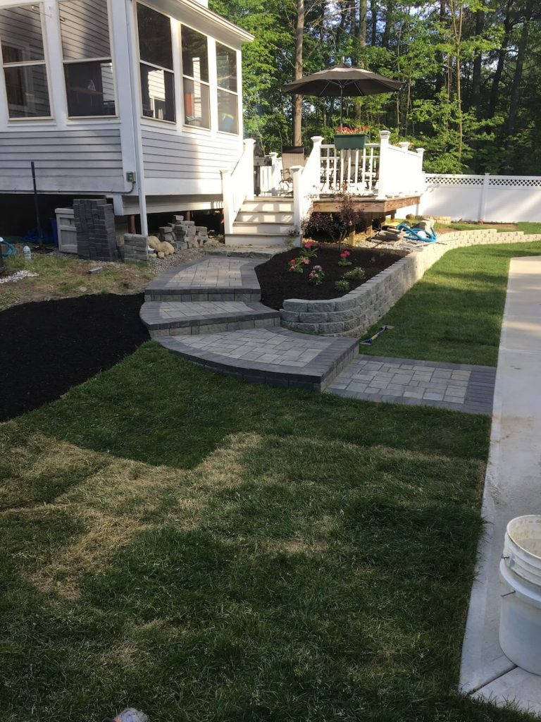Patio and Sod instillation Bedford, NH Picture 21
