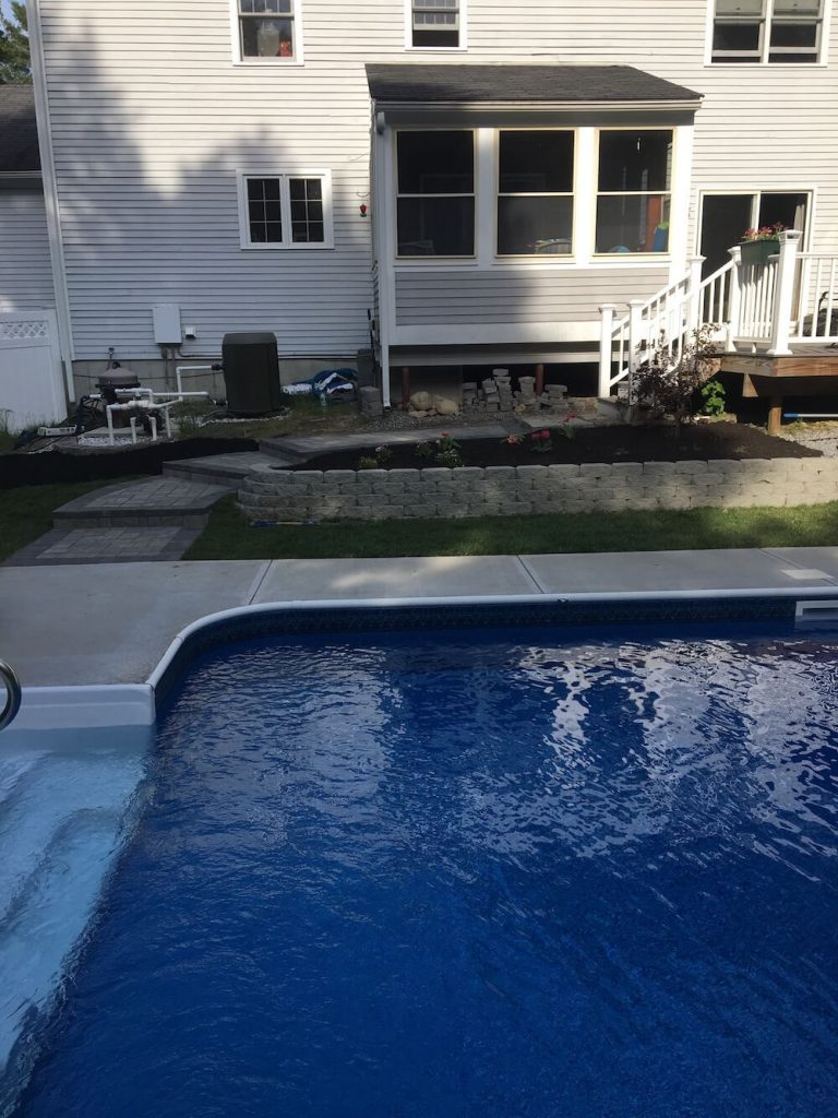 Retaining wall and Patio Bedford, NH Picture 23