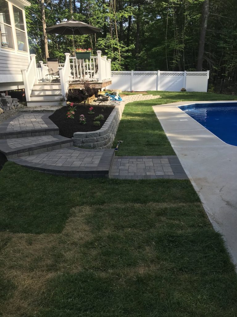 Patio, Retaining wall Bedford, NH Picture 28