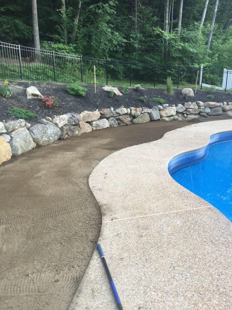 Before preparation, loam, pool