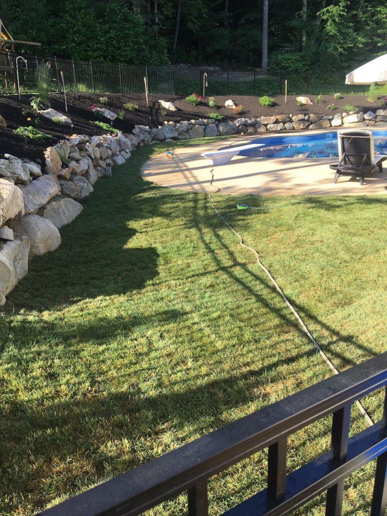Sod instillation around pool