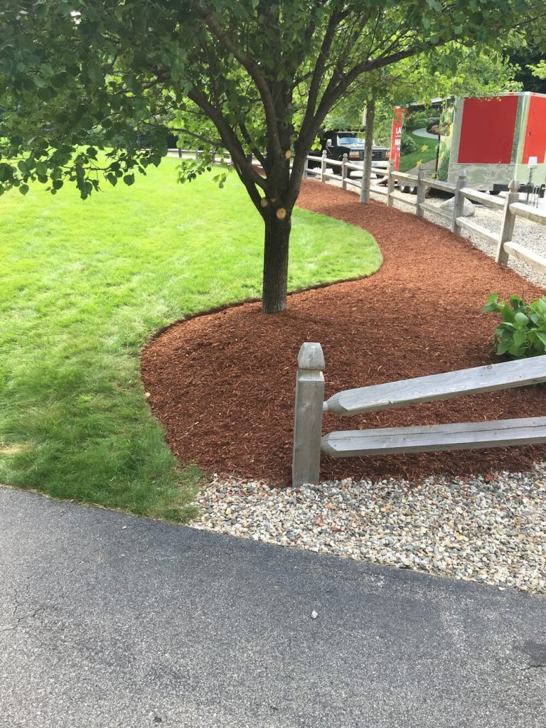 edging with mulch, after photo