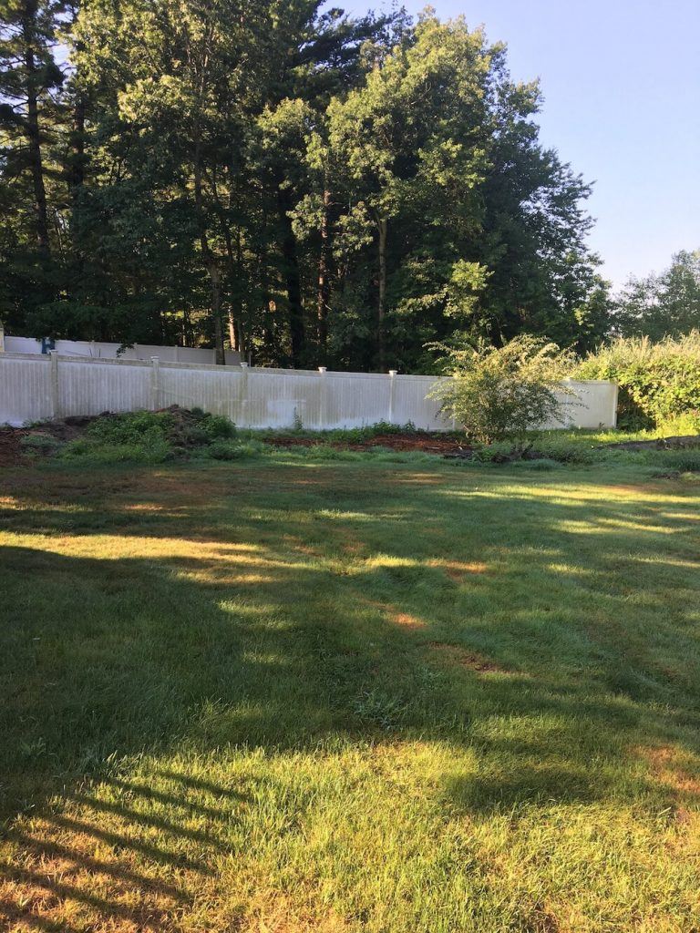 Lawn renovation, merrimack nh