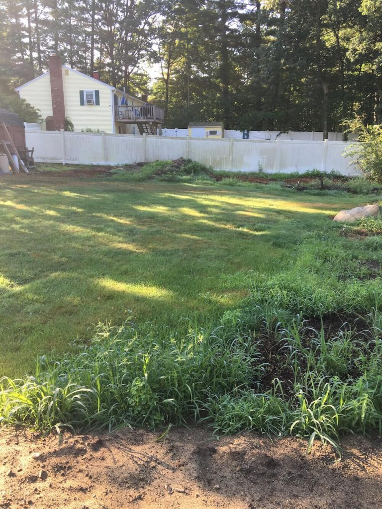 Yard, Lawn, before renovation, Merrimack NH